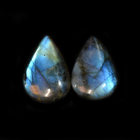 Pair of blue Labradorite Cabochons