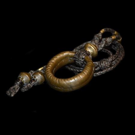 Antique african bronze ring amulet