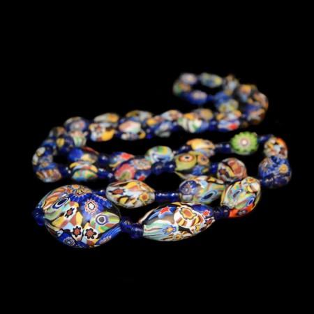 Antique venetian Glass Bead Necklace
