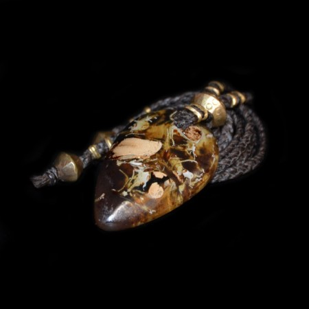 Large indonesian Amber Tooth Talisman