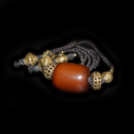 Antique simulated Amber Choker Necklace