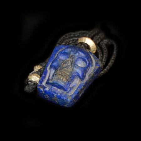 Lapis Lazuli Skull Talisman