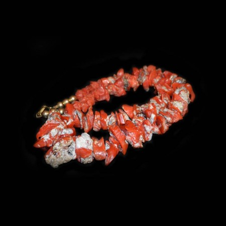 Coral Chip Bead Necklace