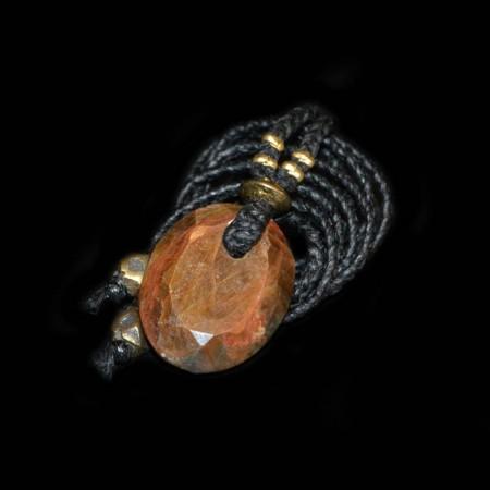 Goldener facettierter Safir Talisman Amulet