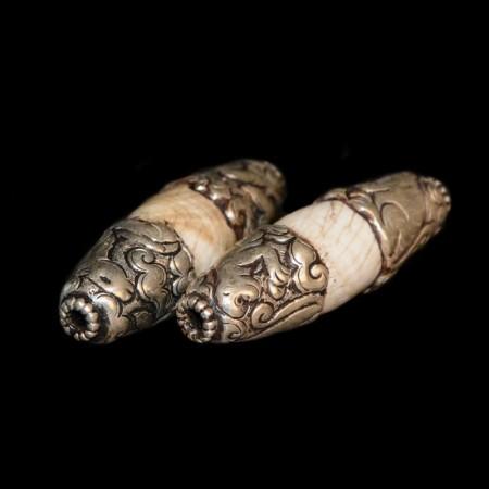 Grosse Silber Muschelperlen