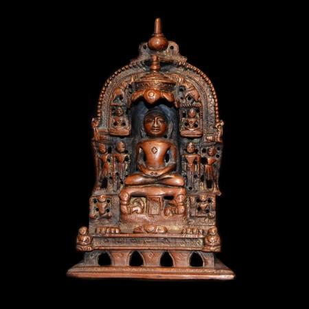 Kupfer Jain Statue