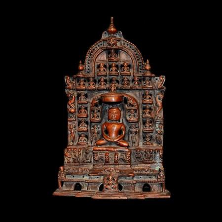 Antike Kupfer Jain Statue