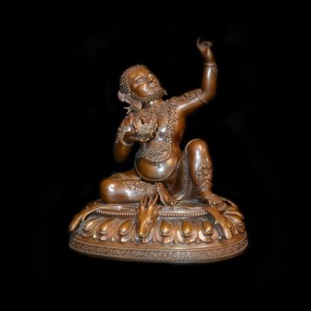 Mahasiddha Virupa Bronze Statue