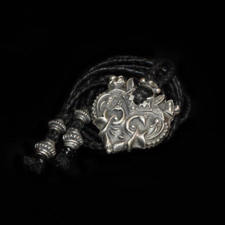 Pfauen Silber Amulett