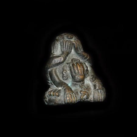 Massive antike Pidta Metall Statue