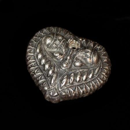 Silber Herz Amulett