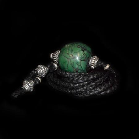 Antike tibetische Türkisperle Choker Halskette