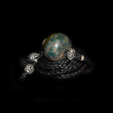 Antike Islamische Blutsteinperle Choker Halskette