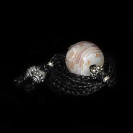Antike weisse Augen Achat Choker Halskette