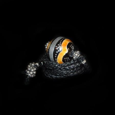 Islamische Bernstein-Silber-Koralle Perlen Choker Halskette
