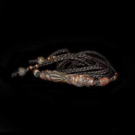 Bob Burkett Bronzeperlen Choker Halskette