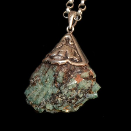 Smaragd Silberanhänger