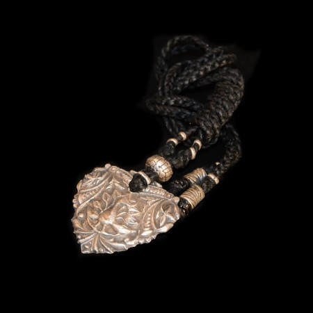 Grosses Silber Pfauen-Amulett