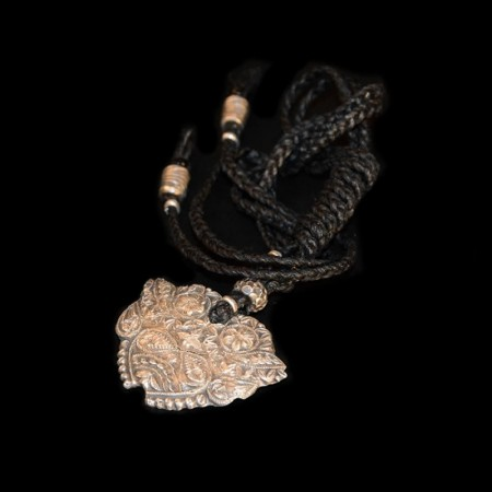 Blumen Silber-Amulett
