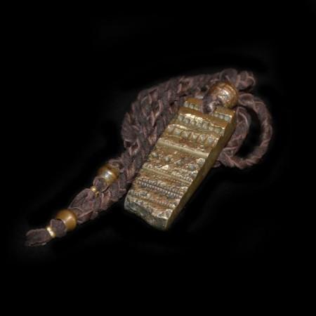 Antikes indisches Bronze Schmuckform Amulett