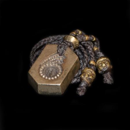 Antikes hinduistisches Bronze-Amulett