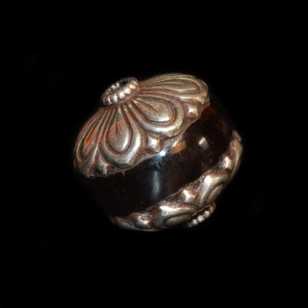 Grosse antike Bakelit Silberperle