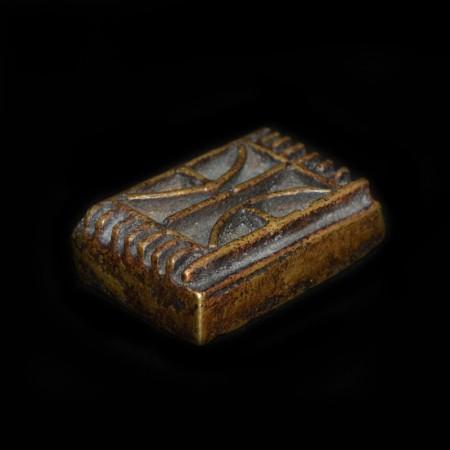 Riesiges frühes antikes Goldgewicht der Akan