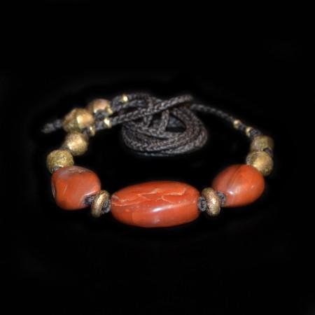 Antike Pema Raka Karneol Halskette