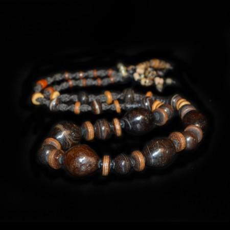 Antike tibetische Achatperlen Kette