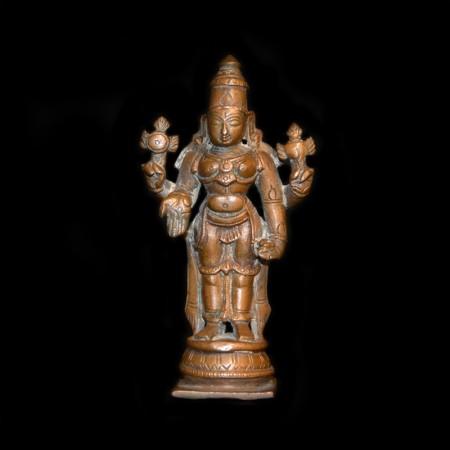 Vishnu Statue aus Kupfer