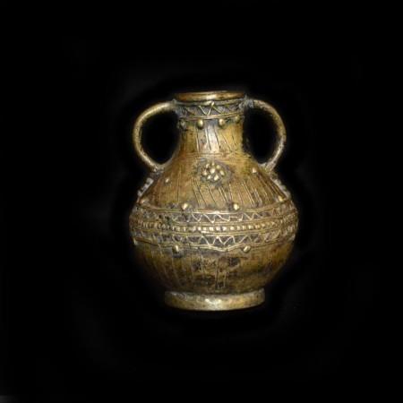 Antike ethnische Messing Vase