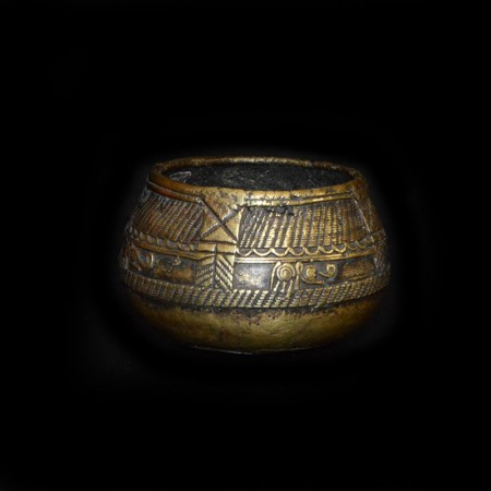 Antike ethnische Messing Bowl