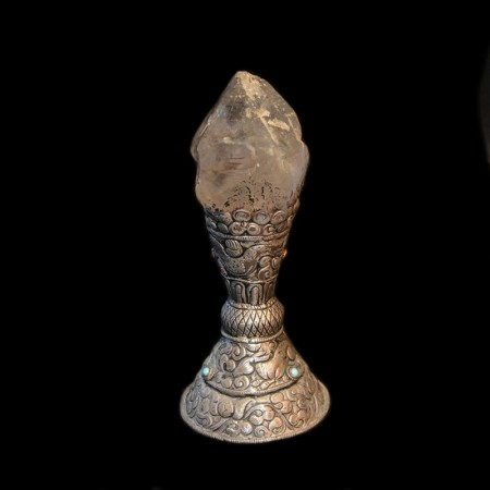 Bergkristall Silber-Stempel aus dem Himalaya