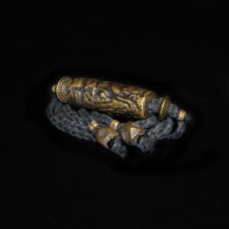 Antike islamische Siegel-Perle Choker Halskette