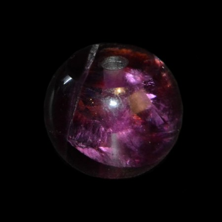 Grosse purpurne Fluorit Edelsteinperle