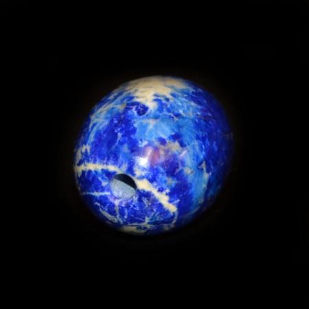 Ovale Lapis Lazuli Edelsteinperle