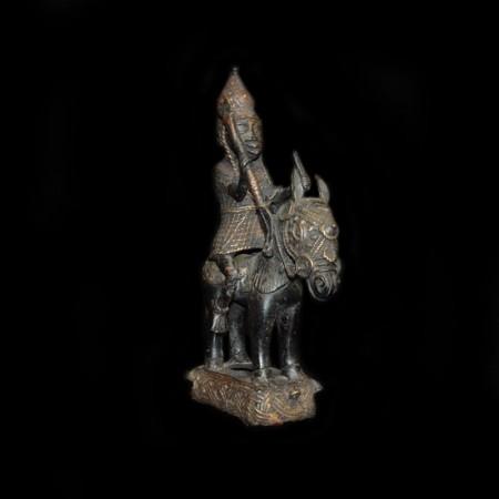 Bronze Reiter auf Pferd, Benin