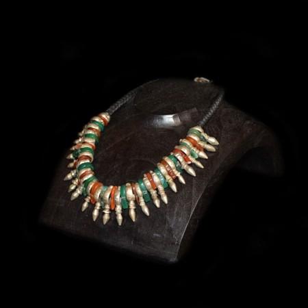 Traditionelle Ethnische Achat Silver Kette