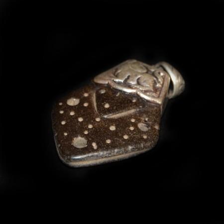 Antiker Stein Silber Anhänger