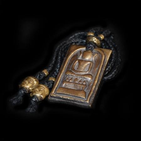 Antikes Buddha Metall-Amulett