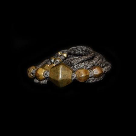 Antike ethnische Bronzeperlen Choker Halskette