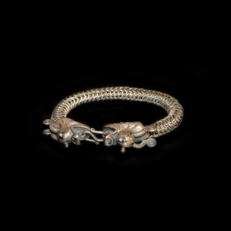 Antikes ethnisches Drachen Silber Armband