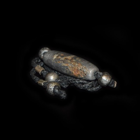 Grosse Muonionalusta Meteorit Perle Choker Halskette