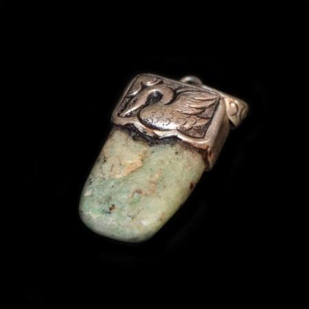 Neolithischer Amazonit Silberanhänger