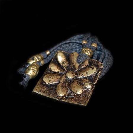 Antikes Akan Blumen Goldgewicht Amulett