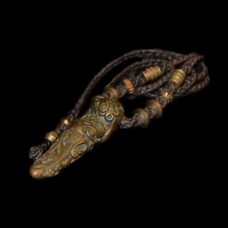 Antikes Bronze Pidta Amulett