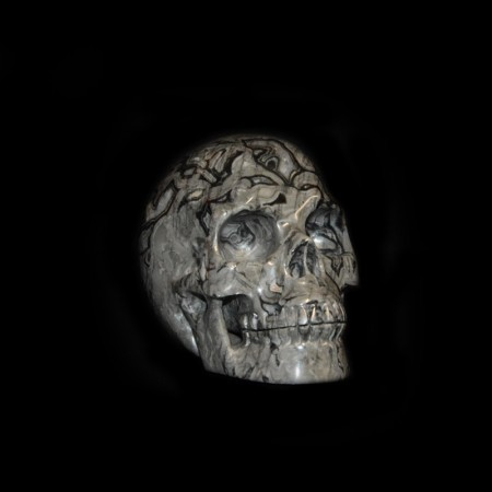 Black-grey Agate Skull